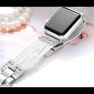 Apple Watch band bracelet pearls crystals 38 40